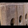 Pupitre, Champagnerek, Riddling rack muurmodel 60 flessen met Moët & Chandon Champagne brandmerk