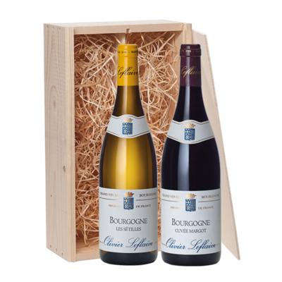 2-fles wijnkist Olivier Leflaive Les Sétilles & Cuvée Margot - Bourgogne, Frankrijk