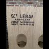 Pupitre, Champagnerek, Riddling rack grondmodel 40 flessen Saint-Leban brandmerk