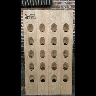 Pupitre, Champagnerek, Riddling rack grondmodel 40 fl. Saint-Leban brandmerk