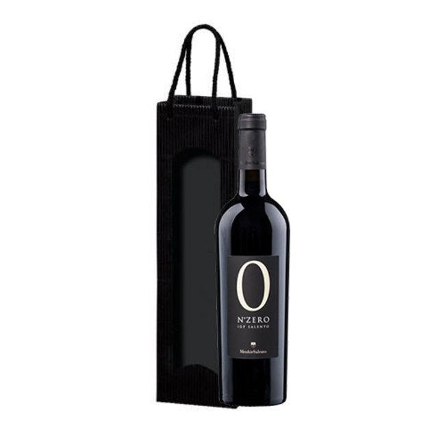 Vini Menhir Salento S.R.L. 1-fles wijngeschenk Cantine Menhir N. Zero Negroamaro - Puglia, Italië