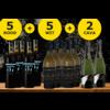 Feestdagen Pakket bestaande uit 10 flessen wijn + 2 flessen Cava