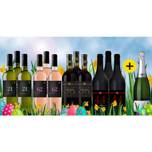 Paas Pakket 2021 bestaande uit 12+1 flessen wijn