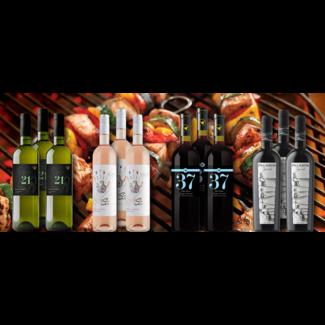 Barbecue wijnen pakket bestaande uit 12 flessen wijn