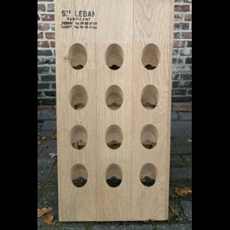 Pupitre, Champagnerek, Riddling rack grondmodel 24 fl. Saint-Leban brandmerk