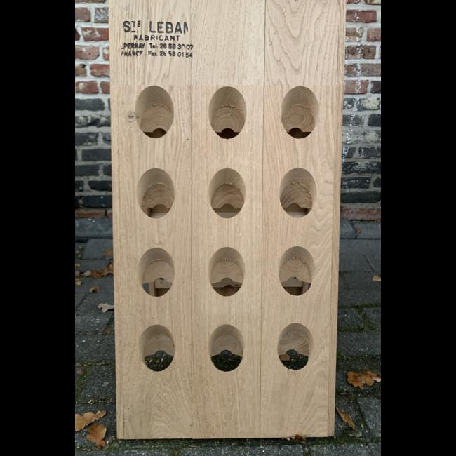 Pupitre, Champagnerek, Riddling rack grondmodel 24 flessen Saint-Leban brandmerk