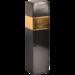 1-fles kokerdoos gesloten zwart met gouden band