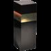 1-fles kokerdoos gesloten zwart met gouden band Champagne