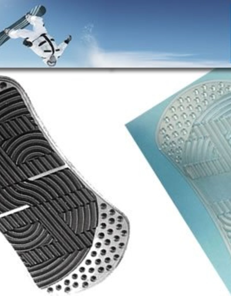 Snowboard stand pad zwart/ transparant
