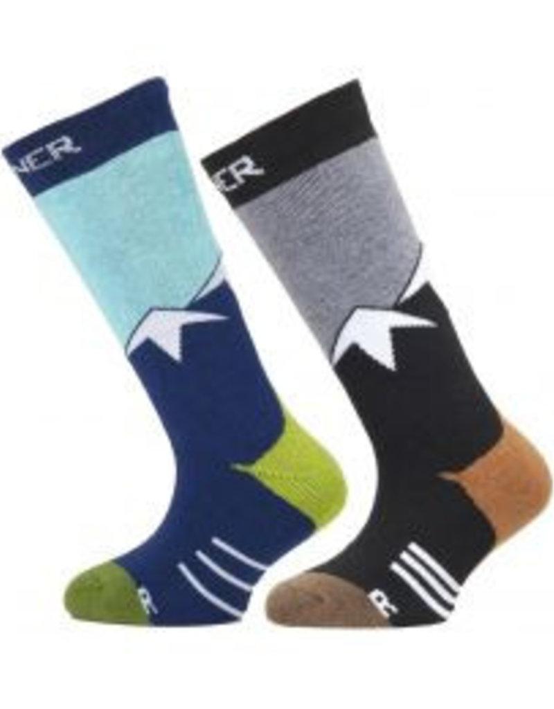 Sinner Ski sokken Mountains blauw/ grijs