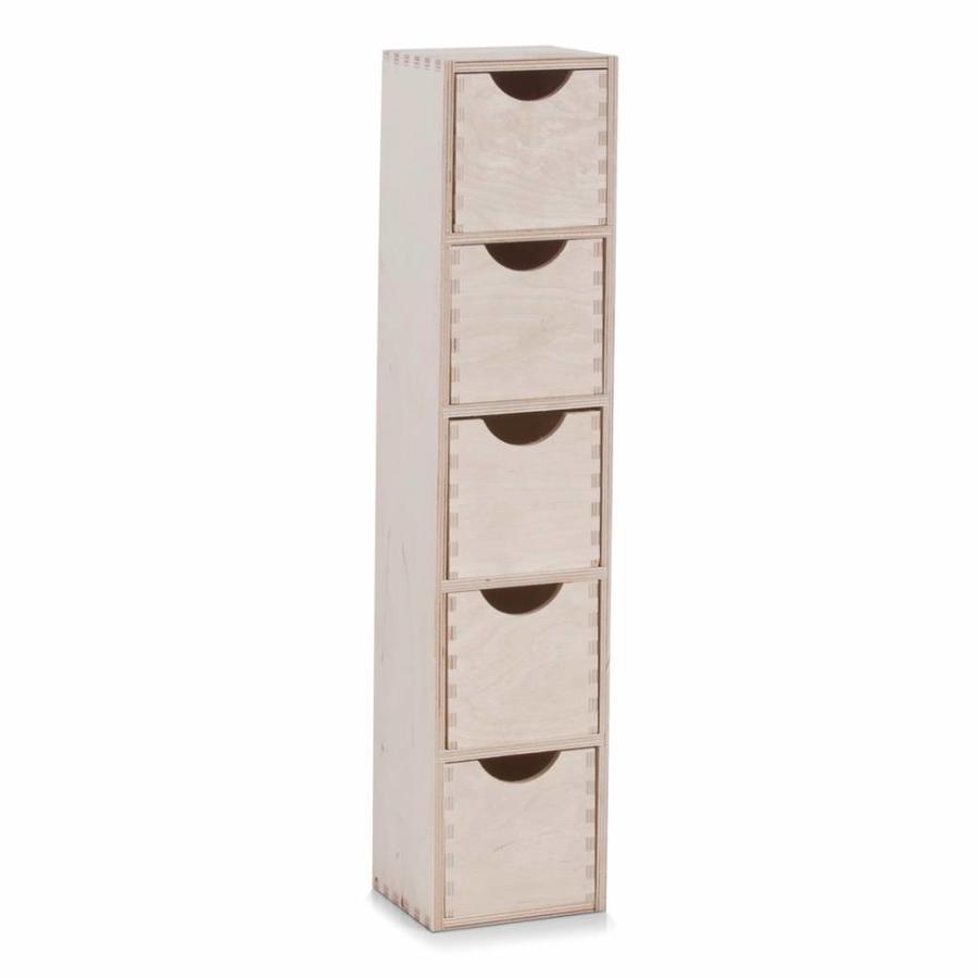 Zeller Present Houten ladeblok met 5 lades L