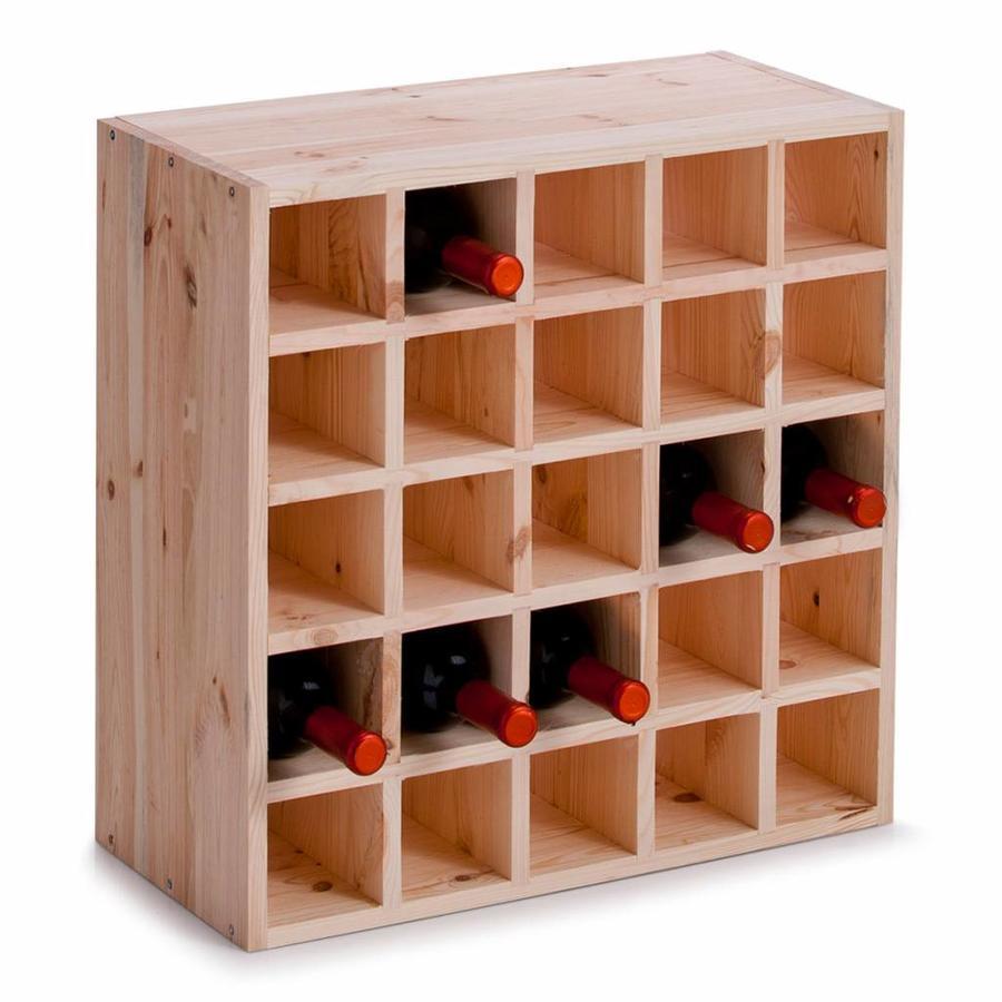 Zeller Present Houten wijnrek met vakverdeling