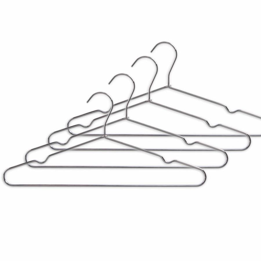 Zeller Present Metalen kledinghangers set van 4 stuks