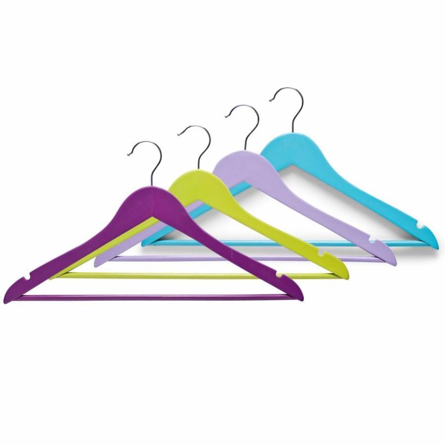 Zeller Present Houten kledinghangers VROLIJK (3 stuks)