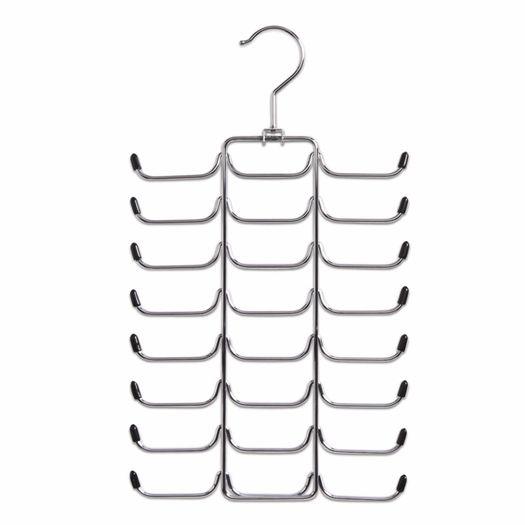 Stropdassenhanger 24 plaatsen chroom