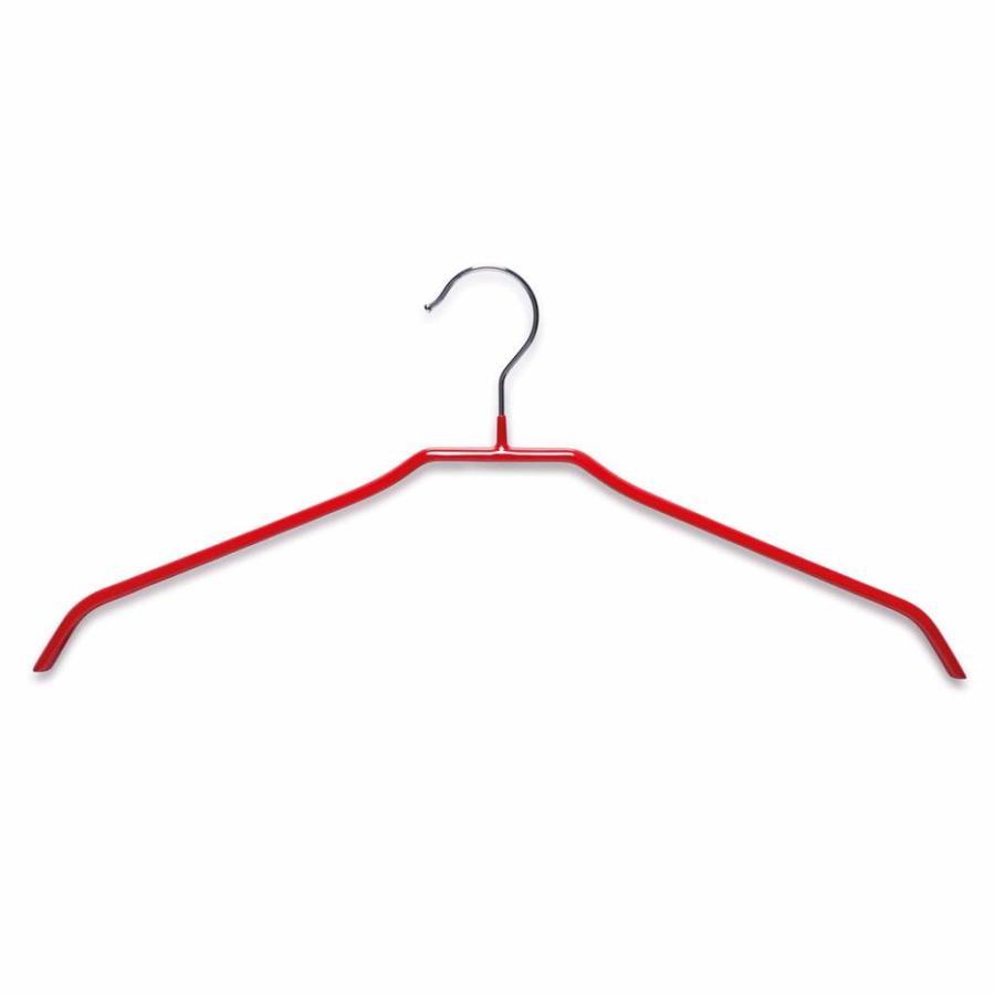 Zeller Present Metalen kledinghanger geplastificeerd rood