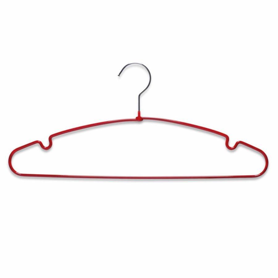Zeller Present Metalen kledinghangers rood geplastificeerd (10 stuks)