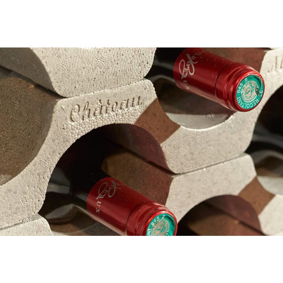 MOTTEZ Stapelbare flessenrek of wijnrek delen (set van 3)