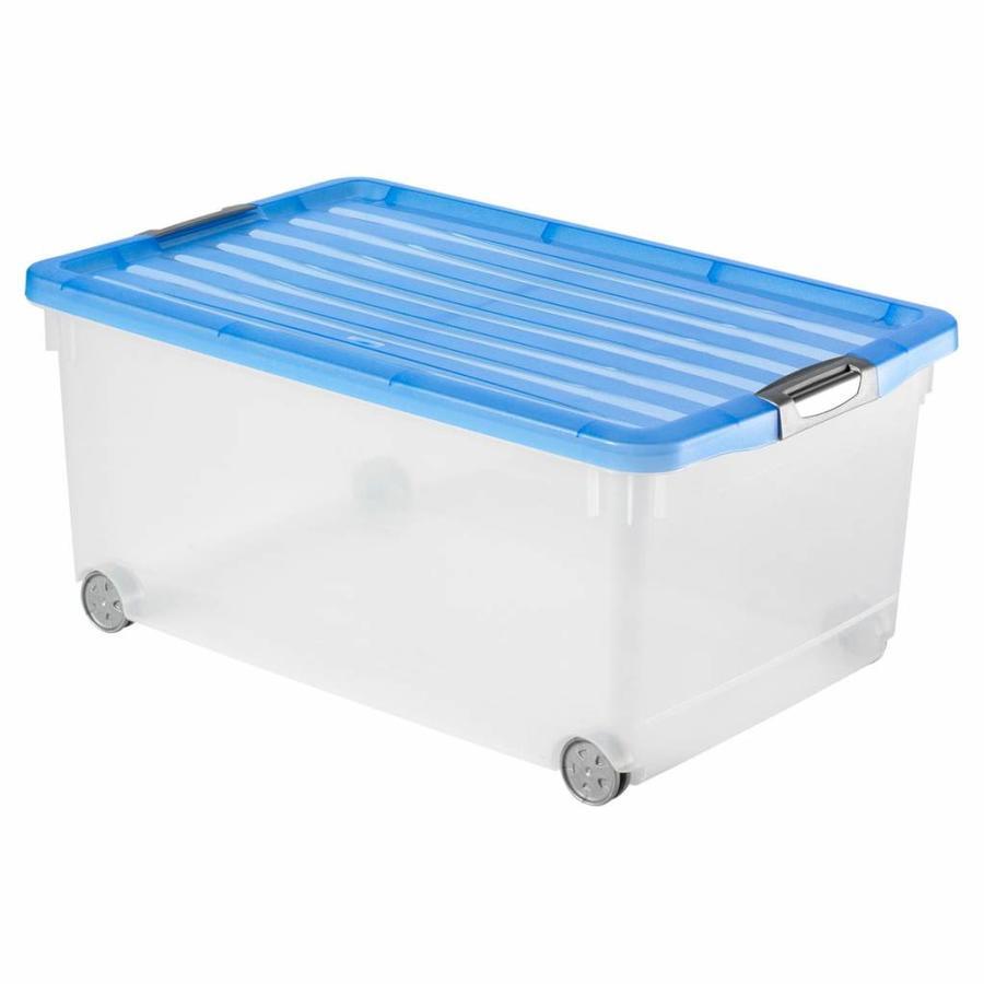 CURVER Opbergbox met deksel en wielen Click and Fit 45 liter