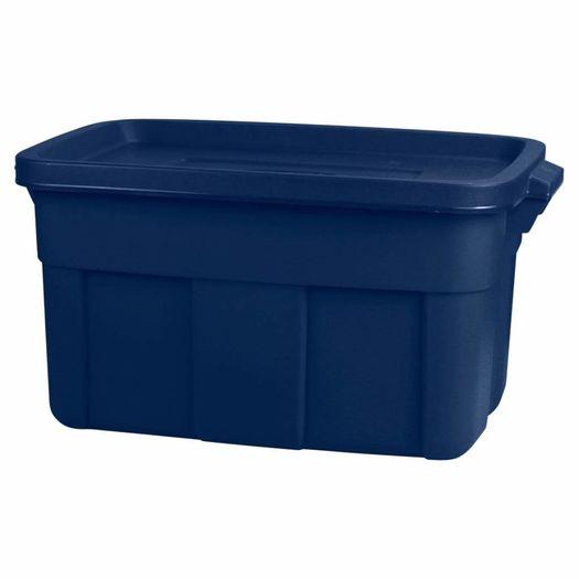 Opbergbox met deksel 45 liter donkerblauw