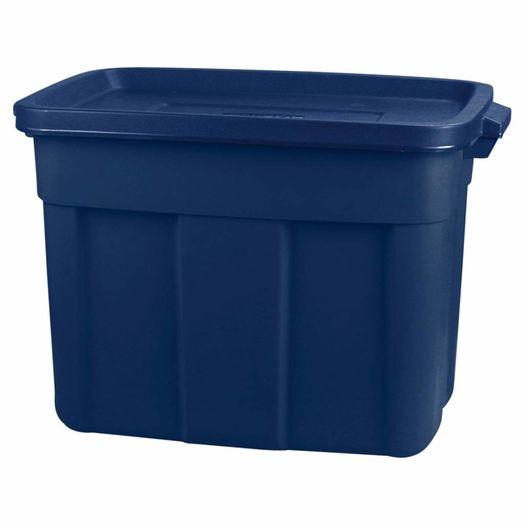 Opbergbox met deksel 57 liter donkerblauw