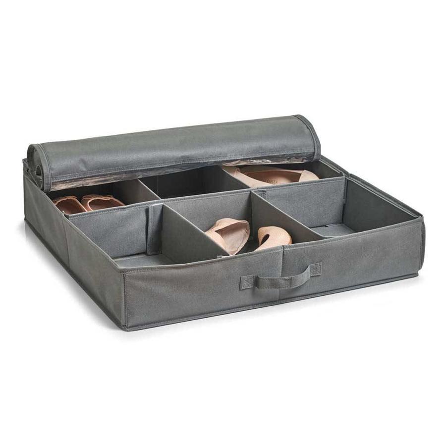 Zeller Present Stoffen schoenenbox met kijkvenster
