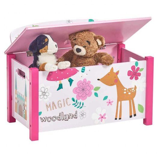 Speelgoedkist en bank Girly
