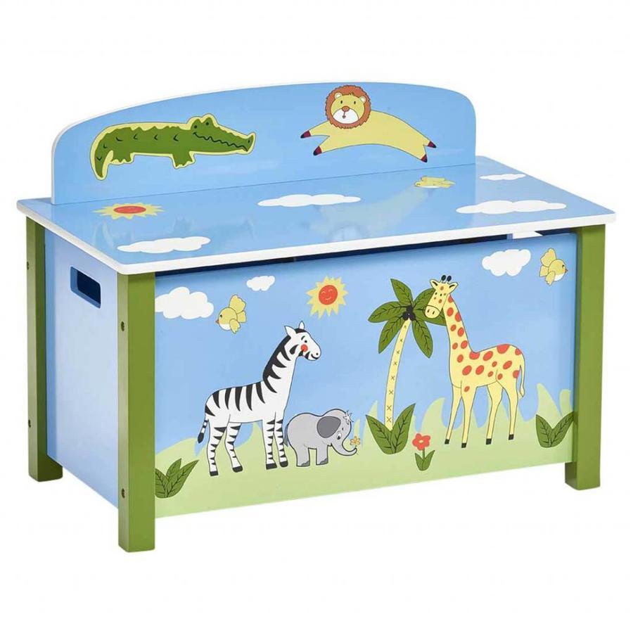 Zeller Present Speelgoedkist en bank Safari