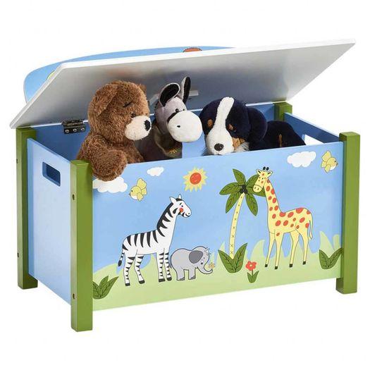 Speelgoedkist en bank Safari