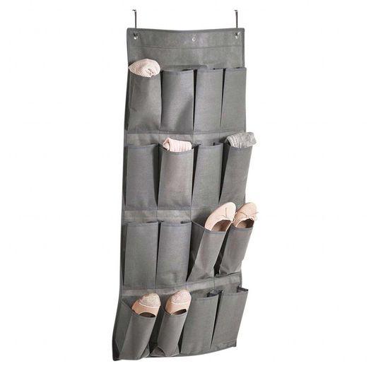 Stoffen schoenenzak met 16 vakken
