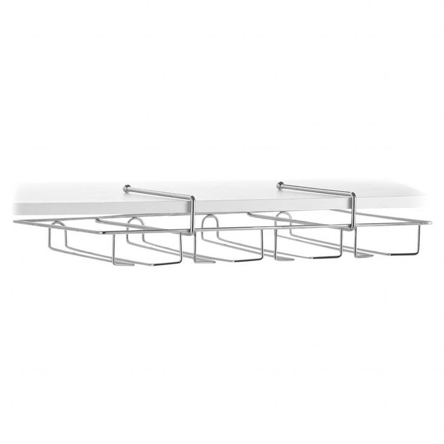 Zeller Present Glazenrek met 4 sleuven 50 x 35 cm