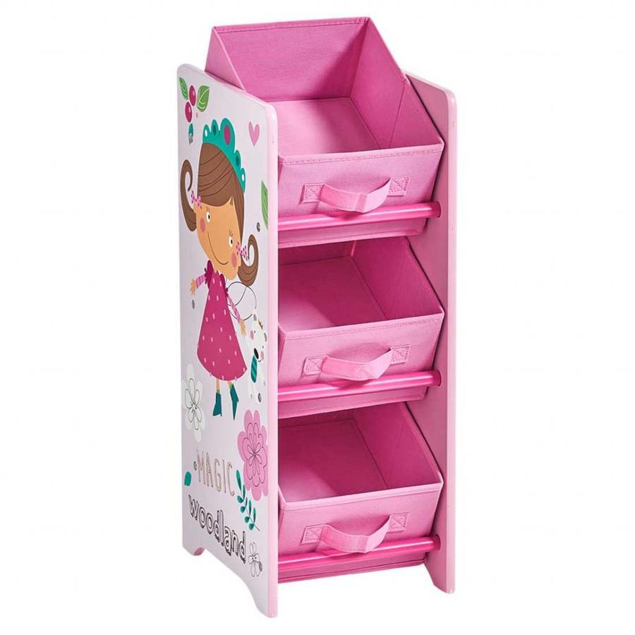 Zeller Present Opbergrek kinderkamer met 3 uitneembare boxen Girly