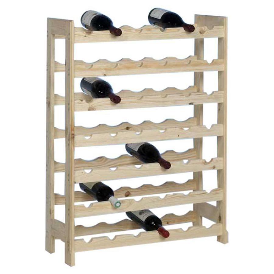 PRACTO Houten wijnrek voor 42 flessen