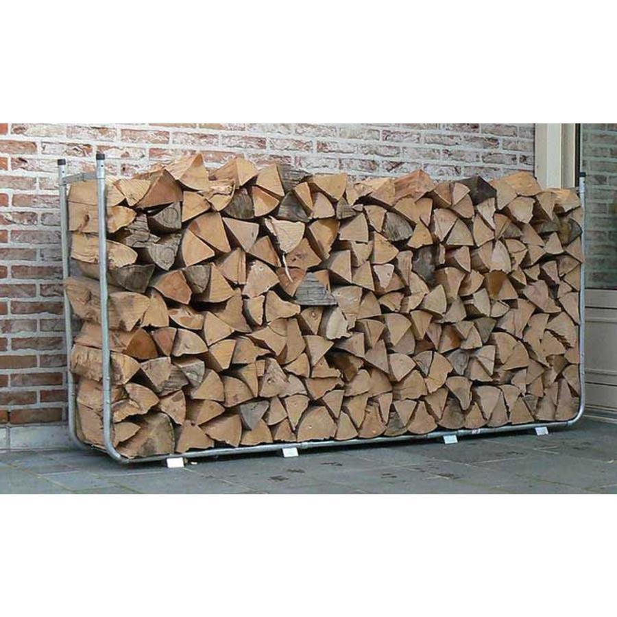 PRACTO Uitschuifbaar houtstapelrek