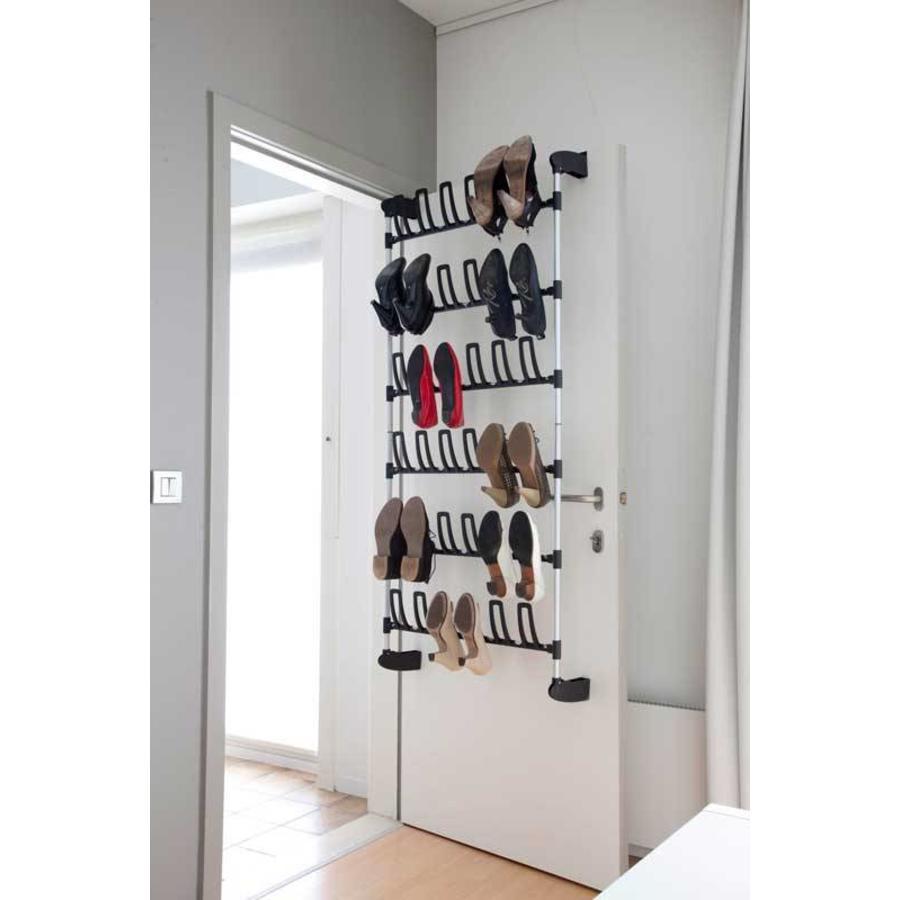 CASIBEL Schoenenrek deurmontage voor 18 paar schoenen