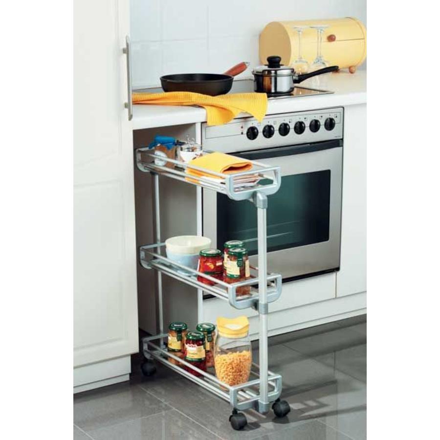 RUCO Keukentrolley met 3 opbergvakken