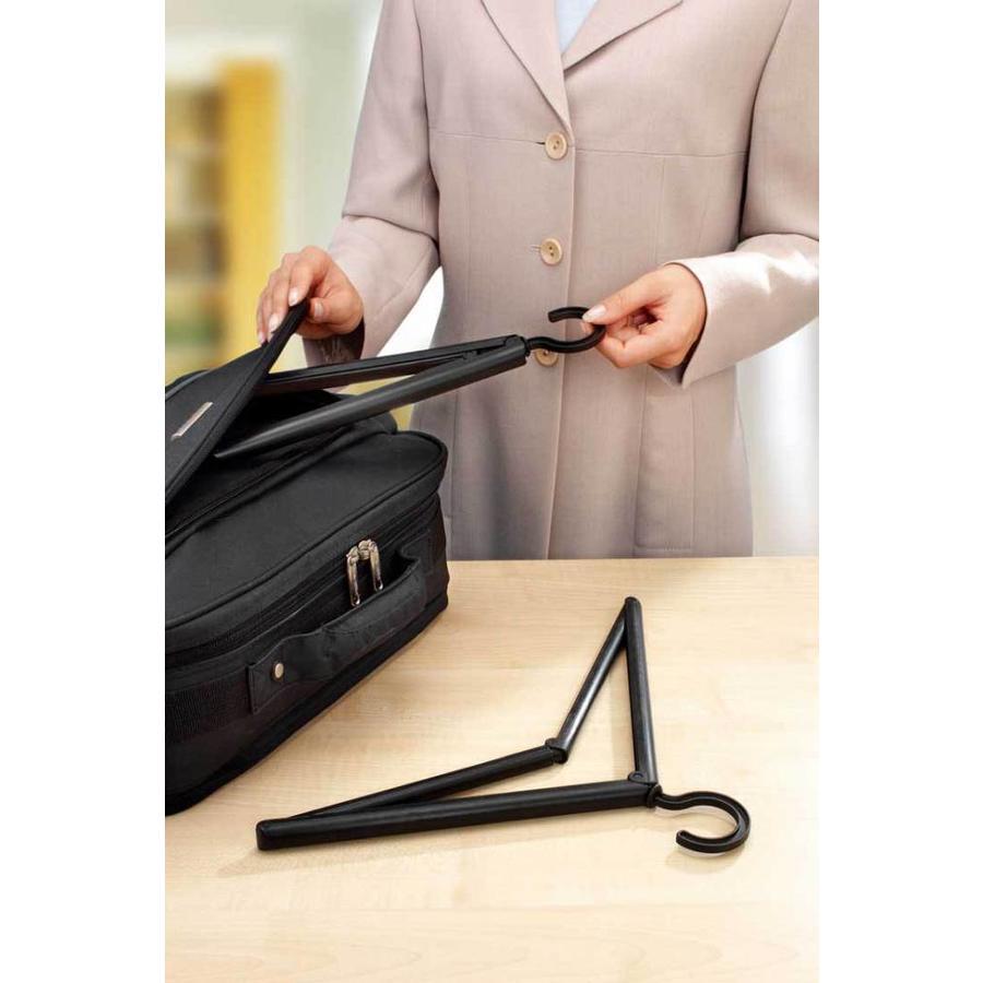 RUCO Inklapbare reis kledinghangers (set van 2) zwart