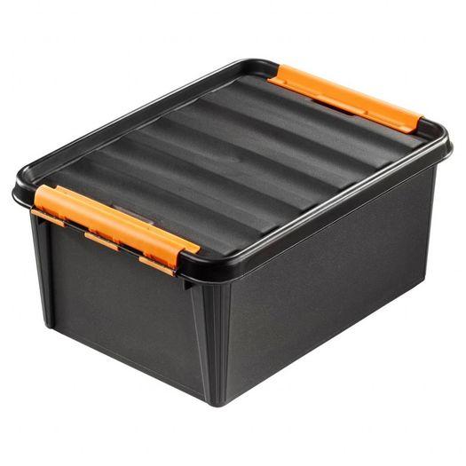 Clipbox Pro 15 zwart (40 x 30 x 19 cm) 14 liter