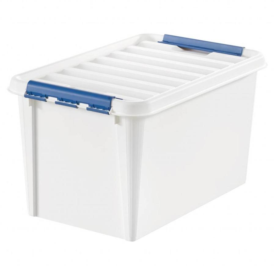 "SmartStore Clipbox Pro 45 wit (59 x 39 x 34 cm) 50 liter ""onbreekbaar!"""