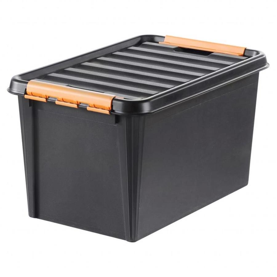 """SmartStore Clipbox Pro 45 zwart (59 x 39 x 34 cm) 50 liter """"onbreekbaar!"""""""