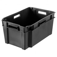 Plastic bak (60 x 38 x 28 cm) 38 liter zwart