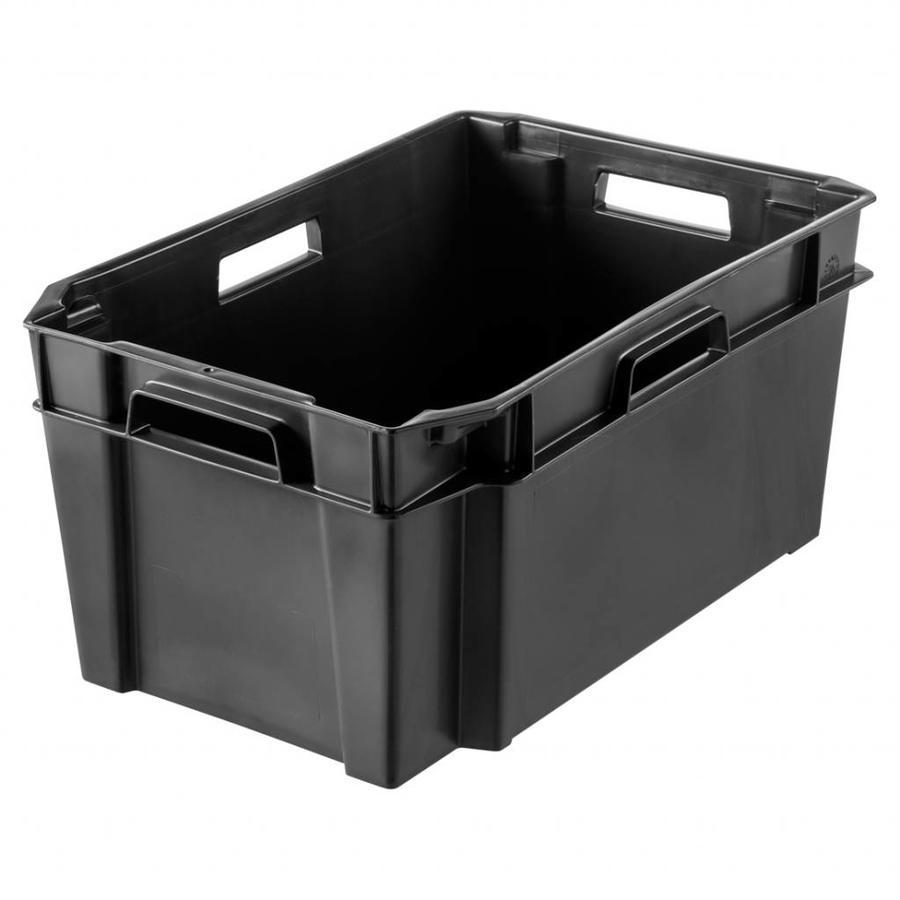 SmartStore Plastic bak (60 x 38 x 28 cm) 38 liter zwart met 4 handgrepen