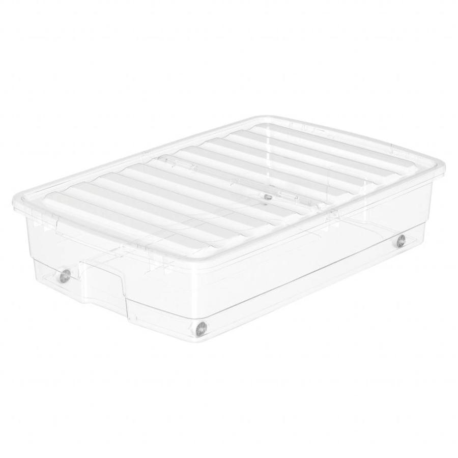 SmartStore Bedroller (76 x 51 x 18 cm) 46 liter met deksel transparant