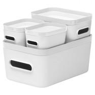 Opbergdozen Compact (set van 4) wit