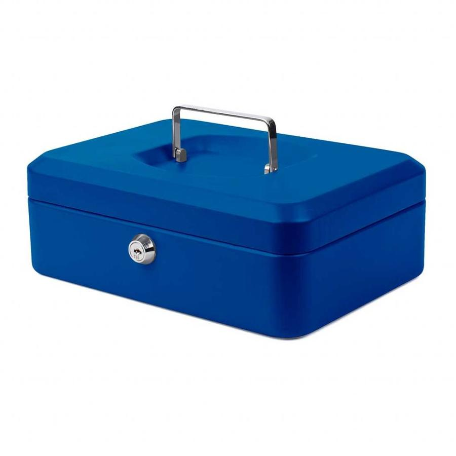 Pavo Geldkistje 25 x 18 x 9 cm blauw
