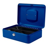 Geldkistje 25 x 18 x 9 cm blauw