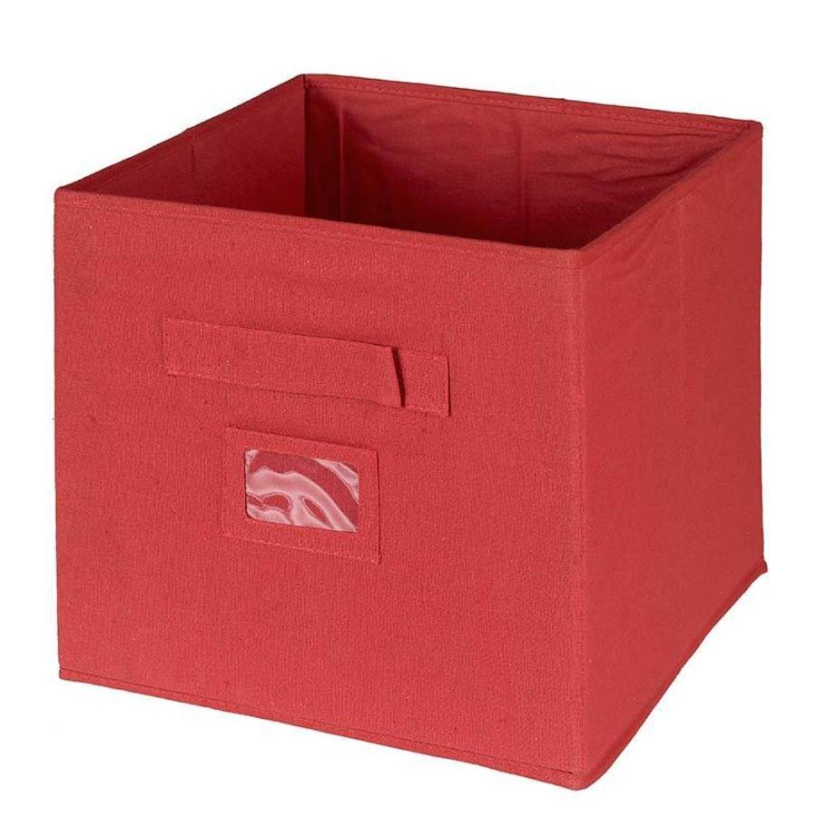 CASIBEL Doos stof rood 32 x 32 x 32 cm