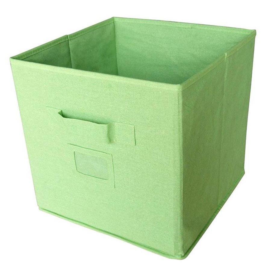 CASIBEL Doos stof groen 32 x 32 x 32 cm