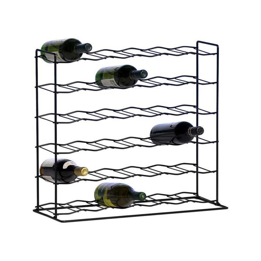 PRACTO Metalen wijnrek voor 36 flessen voorgemonteerd