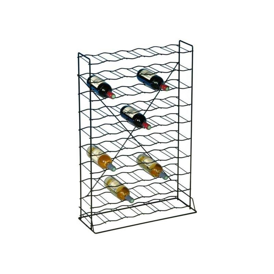 PRACTO Metalen wijnrek voor 60 flessen voorgemonteerd